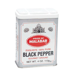 MALABAR BLACK PEPPER 4 OZ TIN