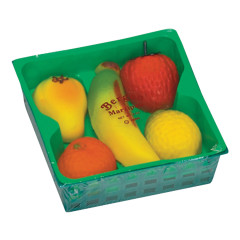 BERGEN MARZIPAN 4 OZ FRUIT BASKET