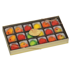BERGEN MARZIPAN ASSORTED FRUIT 8 OZ BOX