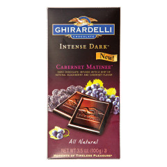 GHIRARDELLI INTENSE DARK CHOCOLATE CABERNET MATINEE 3.5 OZ BAR