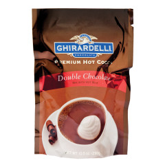 GHIRARDELLI DOUBLE CHOCOLATE HOT CHOCOLATE 10.5 OZ POUCH