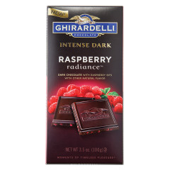 GHIRARDELLI INTENSE DARK CHOCOLATE RASPBERRY RADIANCE 3.5 OZ BAR