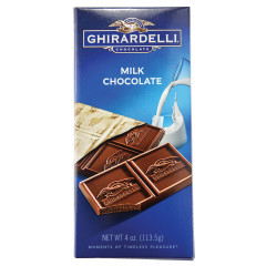 GHIRARDELLI PRESTIGE MILK CHOCOLATE 4 OZ BAR