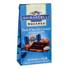 GHIRARDELLI DARK CHOCOLATE SEA SALT CARAMEL SQUARES 5.32 OZ BAG
