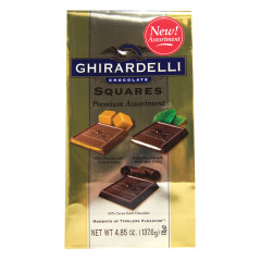 GHIRARDELLI ASSORTED CHOCOLATE SQUARES 4.85 OZ BAG