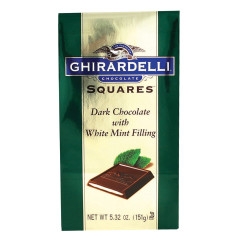 GHIRARDELLI DARK CHOCOLATE MINT SQUARES 5.32 OZ BAG