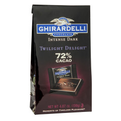 GHIRARDELLI INTENSE DARK TWILIGHT DELIGHT 72% CACAO 4.87 OZ BAG