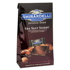 GHIRARDELLI INTENSE DARK SEA SALT SOIREE 4.12 OZ BAG