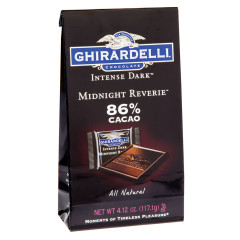 GHIRARDELLI INTENSE DARK MIDNIGHT REVERIE 86% CACAO 4.12 OZ BAG