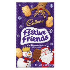 CADBURY FESTIVE FRIENDS COOKIES 5.29 OZ BOX