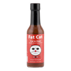 FAT CAT CAT IN HEAT CHIPOTLE GHOST PEPPER HOT SAUCE 5 OZ BOTTLE *FL DC ONLY*