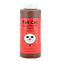 FAT CAT BACON SRIRACHA SAUCE 12 OZ SQUEEZE BOTTLE *FL DC ONLY*
