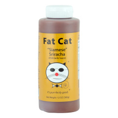 FAT CAT SIAMES SRIRACHA SAUCE 12 OZ SQUEEZE BOTTLE *FL DC ONLY*