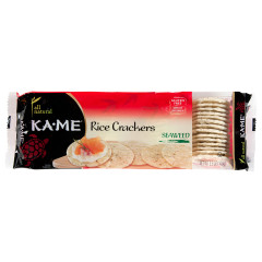 KAME SEAWEED RICE CRACKERS 3.5 OZ