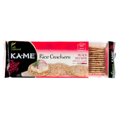 KAME BLACK SESAME AND SOY SAUCE RICE CRACKERS 3.5 OZ