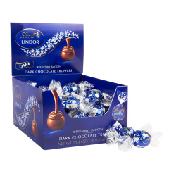 LINDT LINDOR DARK CHOCOLATE TRUFFLES 60 PC BOX