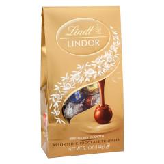 LINDT LINDOR ASSORTED TRUFFLES 5.1 OZ BAG