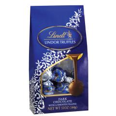 LINDT LINDOR DARK CHOCOLATE TRUFFLES 5.1 OZ BAG