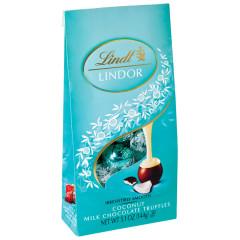 LINDT LINDOR MILK CHOCOLATE COCONUT TRUFFLES 5.1 OZ BAG