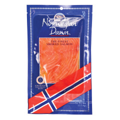 NORWEGIAN DAWN SMOKED SALMON 4 OZ