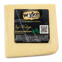 WYKE FARMS VINTAGE ENGLISH CHEDDAR CHEESE