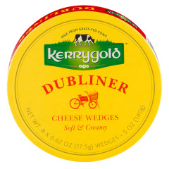 KERRYGOLD DUBLINER SOFT AND CREAMY CHEESE WEDGES 5 OZ