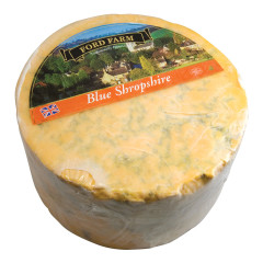 FORD FARM BLUE SHROPSHIRE CHEESE 1/2 WHEEL 8.8 LBS