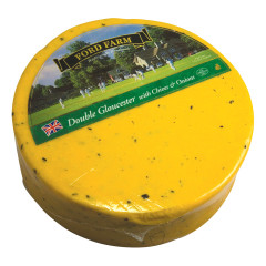 FORD FARM DOUBLE GLOUCESTER WITH CHIVES AND ONIONS 5.3 LBS