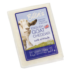 FORD FARM BILLIE'S GOAT CHEDDAR CHEESE 6.6 OZ
