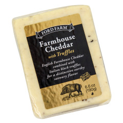 FORD FARM FARMHOUSE CHEDDAR CHEESE WITH TRUFFLES 6.6 OZ