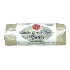 DOUBLE DEVON CREAM BUTTER SLIGHTLY SALTED 8 OZ