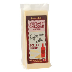 ENJOY ME WITH RED WINE VINTAGE WHITE CHEDDAR CHEESE 7 OZ