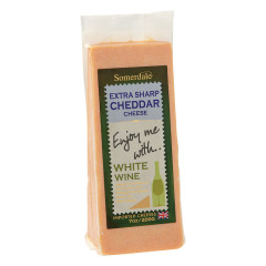 ENJOY ME WITH WHITE WINE EXTRA SHARP CHEDDAR CHEESE 7 OZ