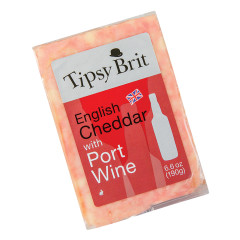 TIPSY BRIT ENGLISH CHEDDAR WITH PORT WINE 7 OZ