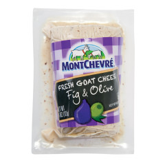MONTCHEVRE FIG AND OLIVE GOAT CHEESE 4 OZ LOG