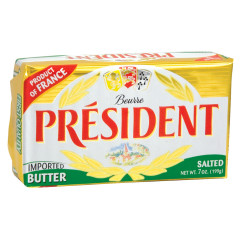 PRESIDENT SALTED BUTTER 7 OZ BAR