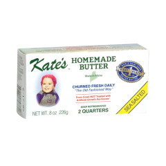 KATE'S HOMEMADE SEA SALTED BUTTER 8 OZ BAR