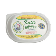 KATE'S HOMEMADE SEA SALTED BUTTER 8 OZ CUP
