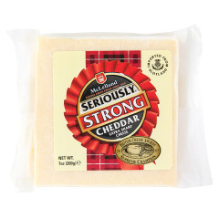 MCLELLAND SERIOUSLY STRONG EXTRA SHARP CHEDDAR CHEESE 7 OZ