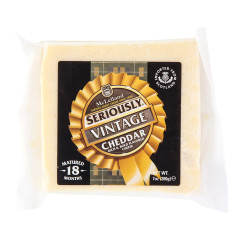 MCLELLAND SERIOUSLY VINTAGE MATURED 18 MONTHS CHEDDAR CHEESE 7 OZ