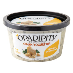 OPADIPITY SPINACH PARMESAN GREEK YOGURT DIP 12 OZ TUB