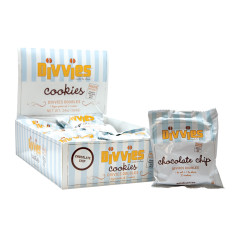 DIVVIES CHOCOLATE CHIP COOKIE 2 PC 2 OZ