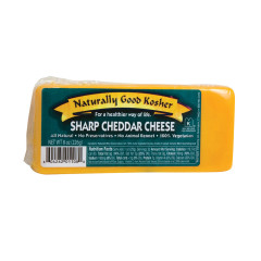 NATURALLY GOOD KOSHER SHARP CHEDDAR CHEESE 8 OZ
