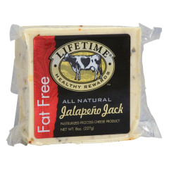 LIFETIME FAT FREE JALAPEÑO JACK CHEESE 8 OZ