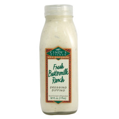 CINDY'S FRESH BUTTERMILK RANCH DRESSING 16 OZ BOTTLE