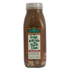 CINDY'S GREEK WITH FETA CHEESE AND BLACK OLIVE DRESSING 16 OZ BOTTLE
