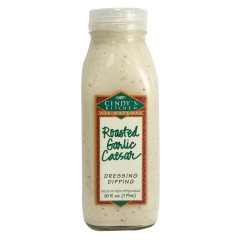 CINDY'S ROASTED GARLIC CAESAR DRESSING 16 OZ BOTTLE