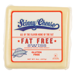 SKINNY CHEESE FAT FREE SWISS CHEESE 8 OZ