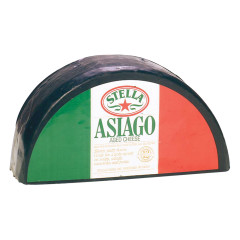 STELLA AGED ASIAGO BLACK WAX CHEESE