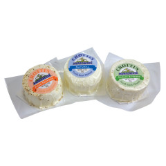MONTCHEVRE CROTTIN ASSORTED GOAT CHEESE 3.5 OZ